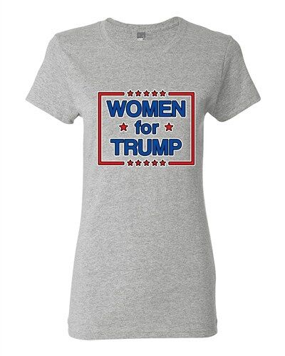 Ladies Women For Trump President USA Support Political DT T-Shirt Tee