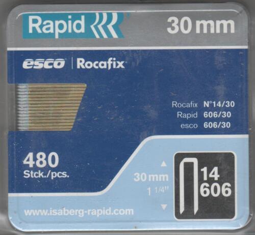 Rapid agrafes 1,1//6//30 mm 480 pièce type 606