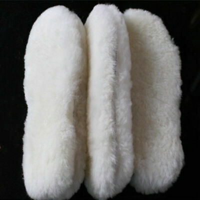 Thermal Shearling Shoe Sheep Wool Boots Shoes Warm Winter Insoles Snow 1pair