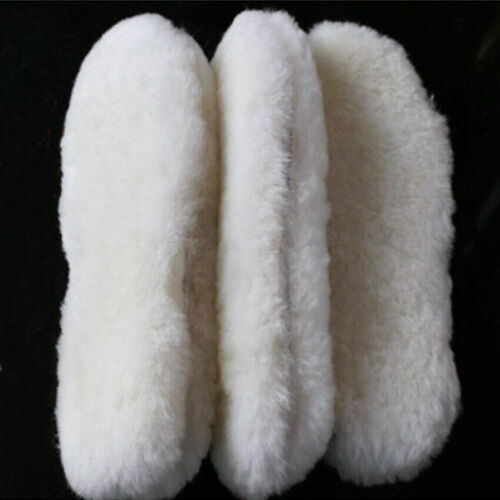Schuheinlagen Schaffellpolster Schafwolle Einlegesohlen Lammfell Unisex 1 Paar