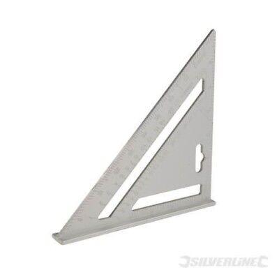 Silverline Equerre de Charpentier en Aluminium 185 mm Menuisier Charpente Angle