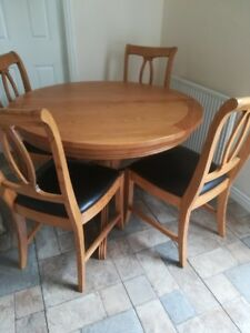 Furniture Origins French Brittany Extending Solid Oak Dining Table And 6 Chairs Ebay