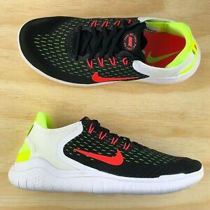 d4f993c7fe75c Nike Free RN 2018 Black Crimson Volt Running Cross Training Shoes ...