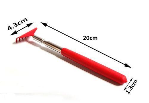 Soft Grip Rückenkratzer aus Metall teleskopisch ausziehbar handliches Pocke SHN