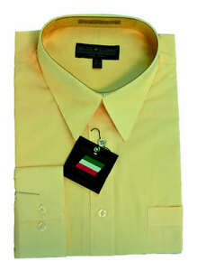 New daniel ellissa mens fashion dress shirt canary yellow for Daniel ellissa men s dress shirts