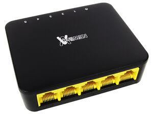5-Port Gigabit LAN Ethernet Network Switch HUB Desktop Adapter 10//100Mbps