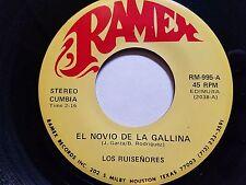 LOS RUISENORES - El Novio De La Gallina / A Paso Lento RARE LATIN CUMBIA Ramex