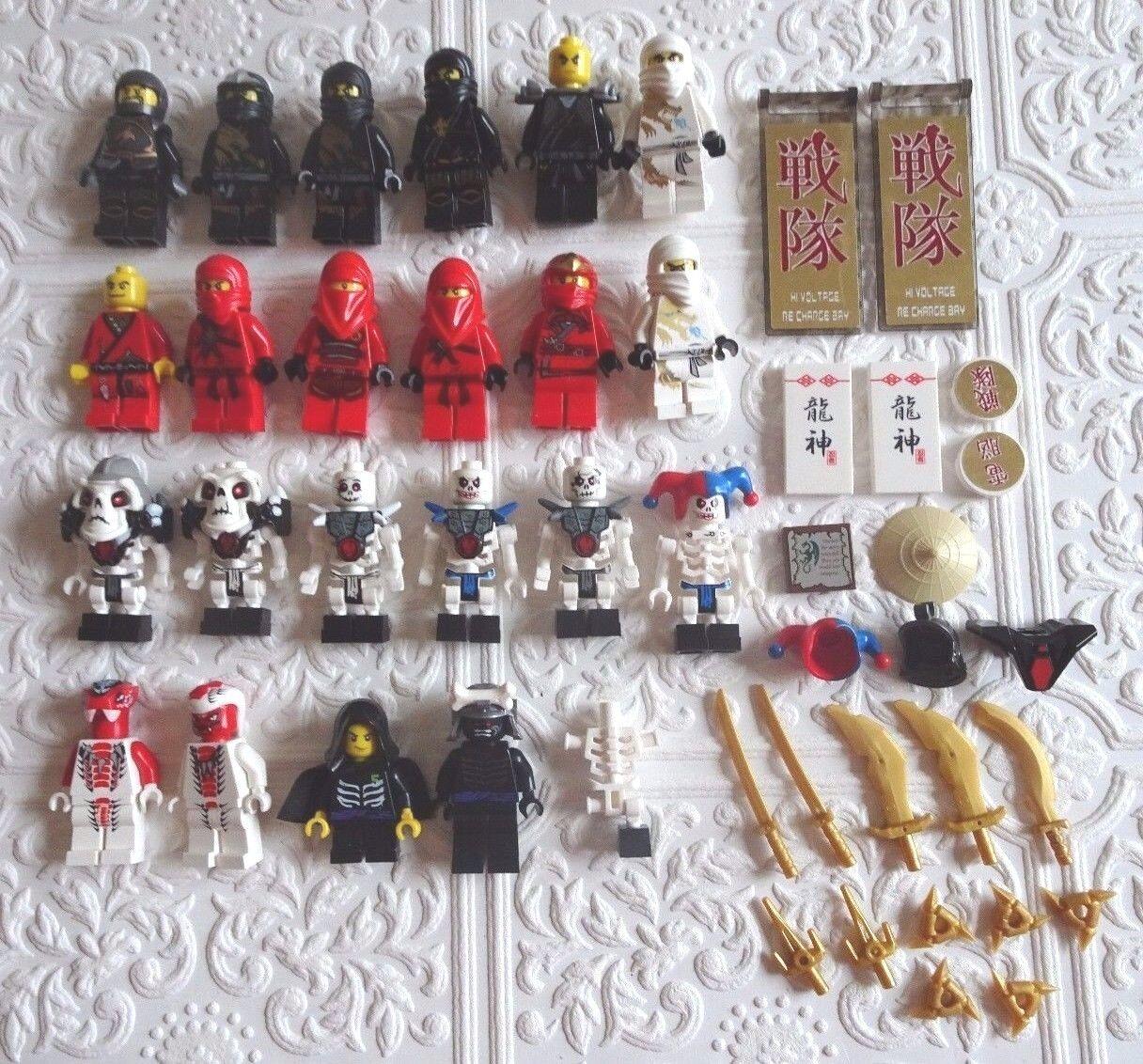Original LEGO Minifigures Mini Fig Ninjago Weapons Snappa Krazi Kruncha  LOT