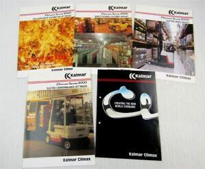 5-Prospekte-Brochures-Kalmar-Climax-England-Series-2000-Fork-Lift-Trucks