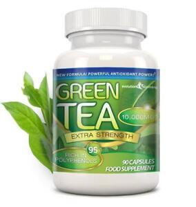 Green-Tea-Extra-Strength-10000mg-95-Polyphenols-90-Capsules-Evolution-Slimming