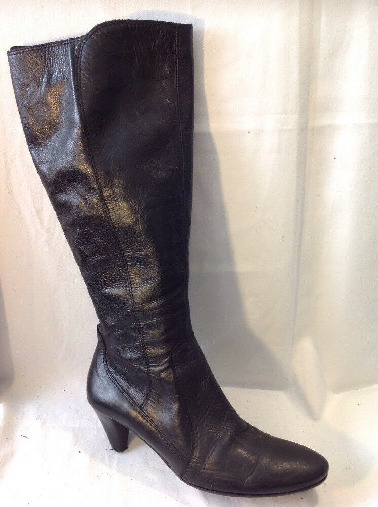 Office London Black Knee High Leather Boots Size 41