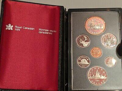 1982 Canada 7 Coin Prestige Silver Dollar PROOF Set DEEP CAMEO #coinsofcanada