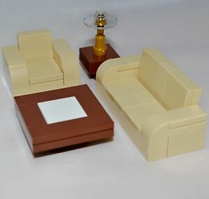 LEGO Furniture Tan Seating Set Collection