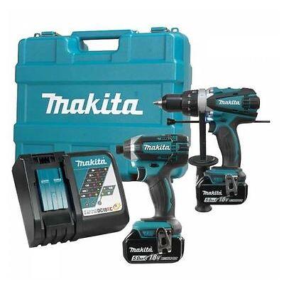 Makita DLX2005T 18V 5.0Ah Cordless Hammer Drill/Driver & Impact Driver Combo Kit