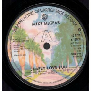 MIKE-MCGEAR-Simply-Love-You-7-034-VINYL-UK-Warner-Bros-Solid-Label-Design-B-W-What