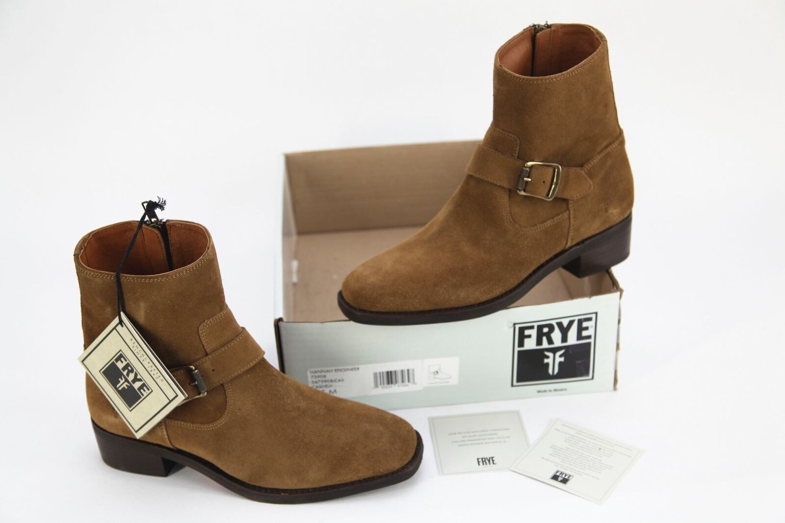 NEW  348 Frye 'Hannah' Leather Engineer Boot in Cashew women's size 9.5M