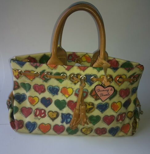 Dooney and Bourke Tiny Hearts coated canvas tote s