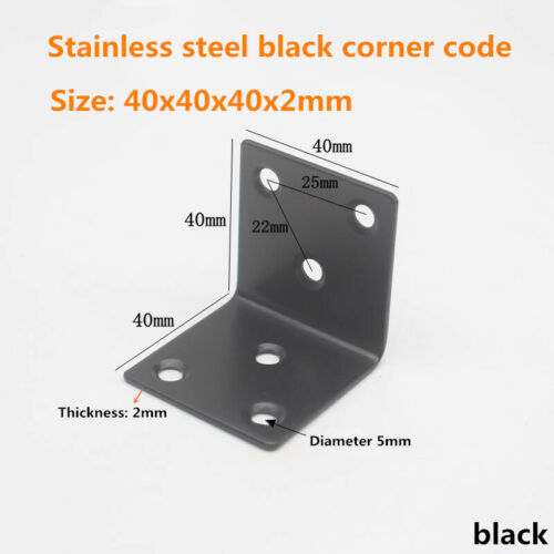 Bracket Right Angle Code black Stainless Steel Connector