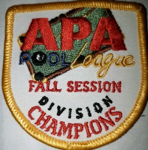APA FALL DIVISION CHAMPION PATCH PATCHES AMERICAN POOLPLAYERS OLD VERSION