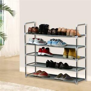 New Shoe Rack Organizer Storage Pairs Shoes Shelves Space 5 Tier Racks Standing