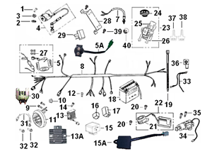 starter relay for keeway superlight 125 ebay rh ebay com au 50Cc Scooter Wiring Diagram Scooter Cdi Wiring Diagram