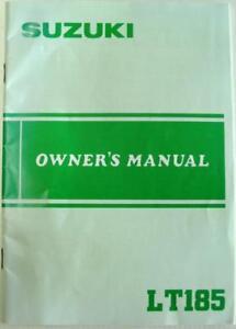 SUZUKI-LT185-1985-99011-24420-03A-Original-Motorcycle-Owners-Handbook
