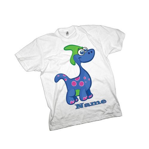 Personalised Dinosaur 5 Printed Childrens T-Shirt,Named Birthday//Christmas Gift