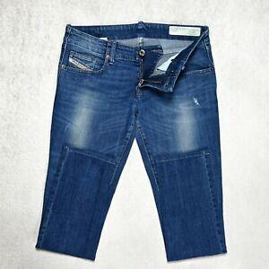 Damen Diesel Grupee Super Slim Skinny Jeans Größe w29 l30 Stretch Blau Denim