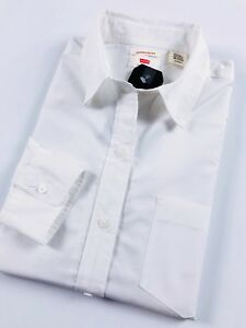 Levi-039-s-Ultimate-Boyfriend-Shirt-Blouse-Women-039-s-Bright-White-58937-0003