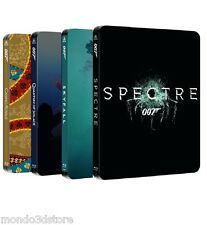 007 - DANIEL CRAIG STEELBOOK COLLECTION + SPECTRE (4 BLU-RAY) COFANETTI SINGOLI