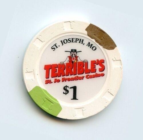 1.00 Chip from the Terribles Casino St Joseph Missouri