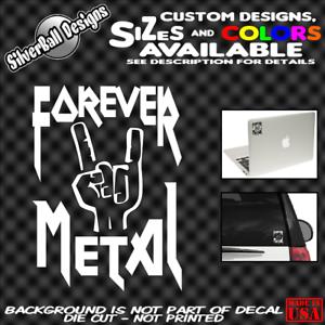 FOREVER-METAL-Horns-Custom-Vinyl-sticker-Car-Window-Bumper-Slayer-Megadeth-Mosh