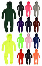 Girls 1Onesie1 Boys 1Onesie1 All In One Jumpsuit Hooded Zip PJ Ages 3 - 13 Years