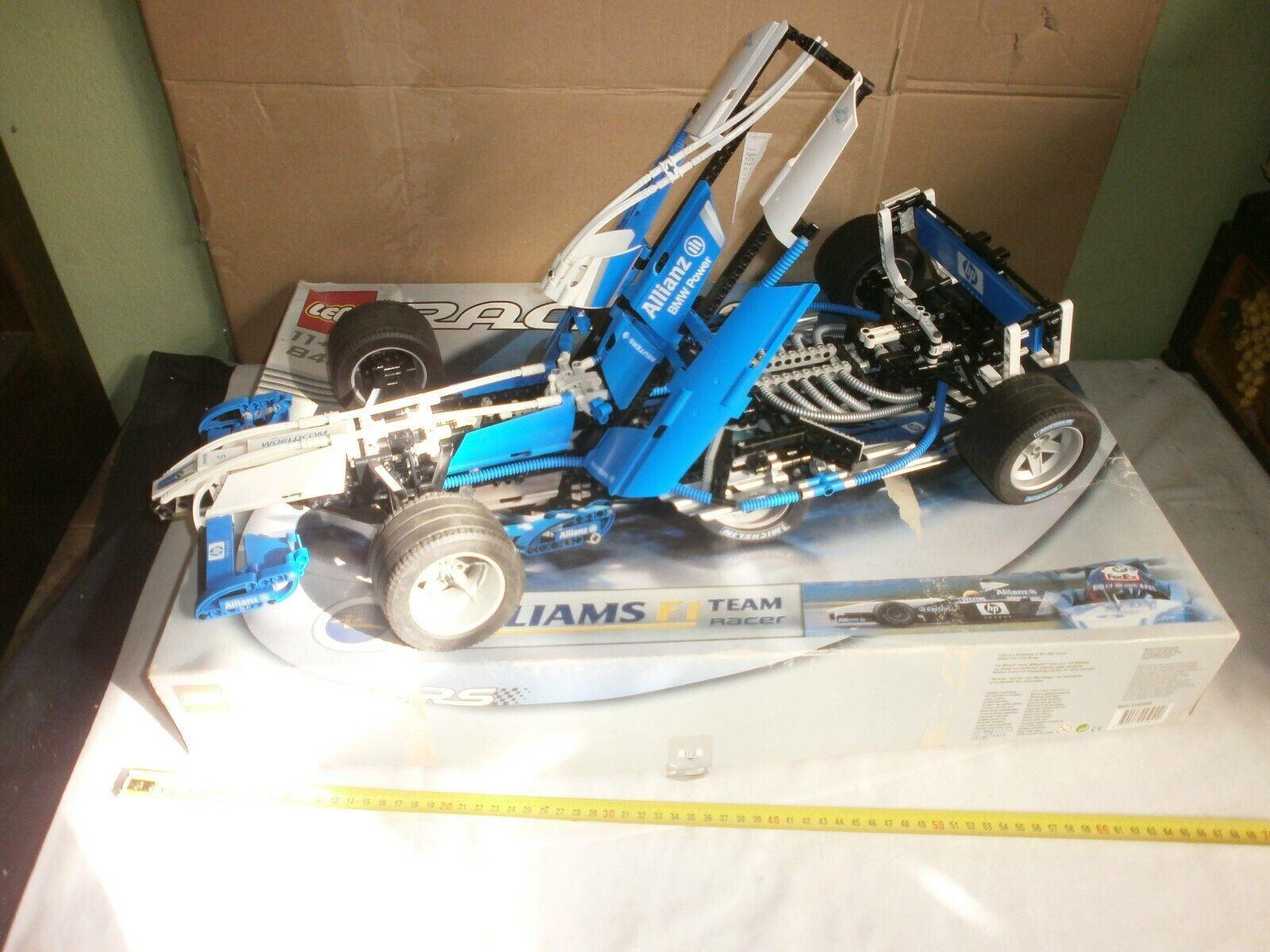 LEGO 8461 BMW WILLIAMS F1 TEAM NON COMPLETA SCATOLA 65X43X10 OTTIME CONDIZIONI