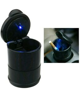 New Blue LED Ash Tray Imported Quality Must For Every Car HONDA SUZUKI