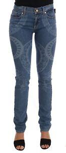 Vask 8057006112505 Stræk W27 Slim Denim 440 Print S Fit Bukser Vj Versace Nye Blå Jeans qZw6pw0