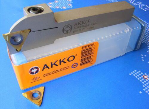 2x Sandvik Stechplatte E12.0230.040 1x AKKO Stechhalter ADKT-H22-R-2020 Neu