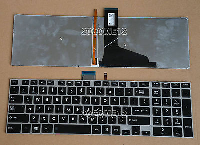 NEW FOR Toshiba Satellite S55-A S55t-A S55D-A Keyboard US Backlit Black Frame