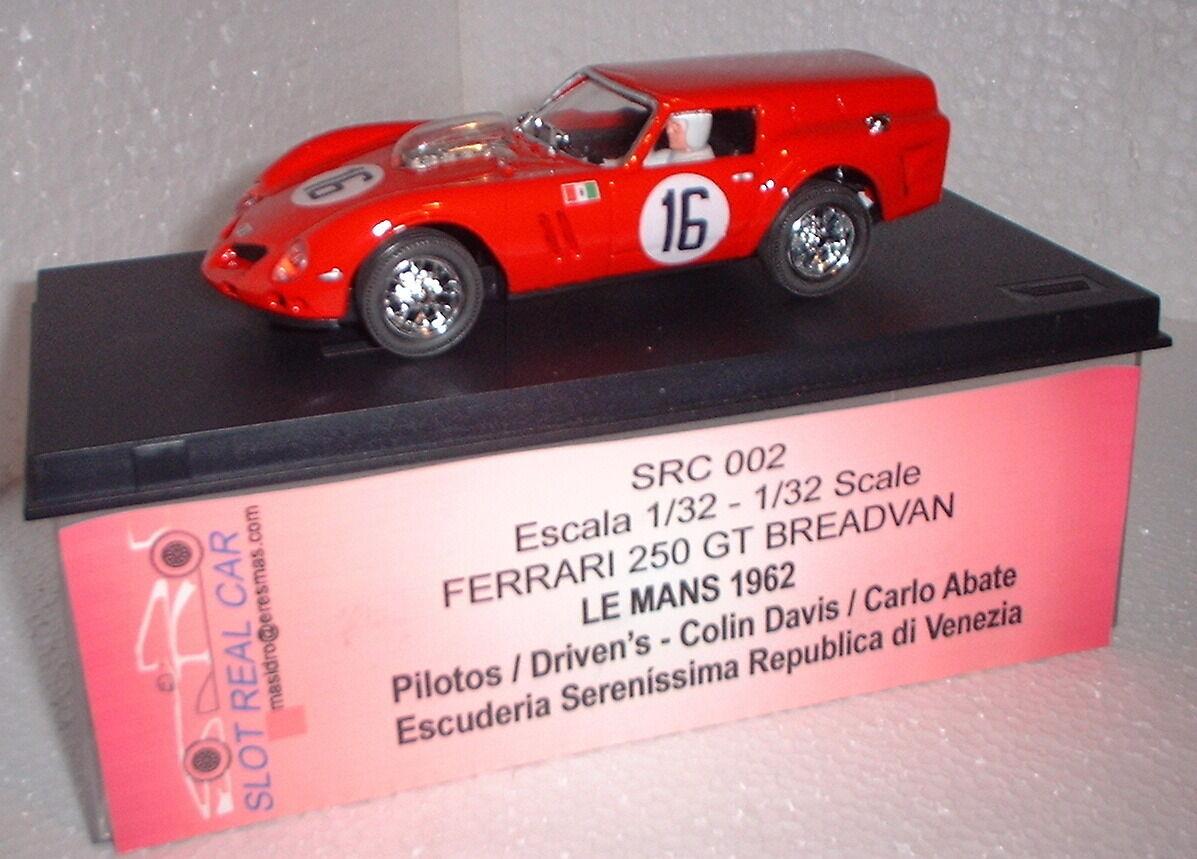QQ Slot Real Car 002 Ferrari 250 Gt Breadvan Le Mans 1962 Limited Edition
