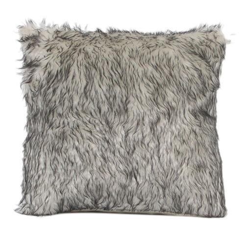 "18/"" Fur Plush Throw Pillow Case Home Decor Sofa Cushion Case Cover US STOCK Z"