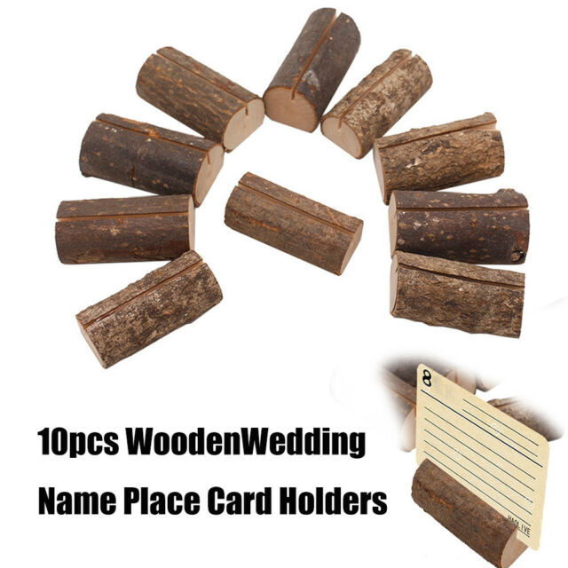 10Pack Wedding Decoration Wooden Name Place Card Holders Table Menu Holder  2018