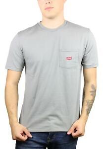 Brixton-Mens-Stitch-WL-Pocket-Short-Sleeve-T-Shirt-Cement-Grey-M-New