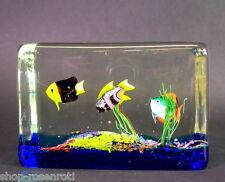 tolles  Glas Aquarium  - Ferro Lazzarini Murano - Signiert