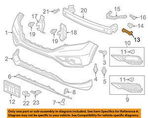 honda oem 12 16 cr v front bumper retainer bracket left 71198t0aa01 Ford Focus Front Bumper Diagram image is loading honda oem 12 16 cr v front bumper