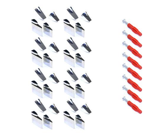 8x Regalhalter Regalträger Regalboden Stütze Glas Acrylglas Größe /& Stil wählbar