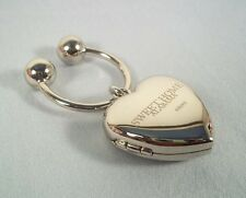 Sweet Home Alabama Heart Locket Key Ring/Chain/Pendant for 2 photos -Silver Tone