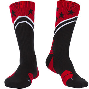 July-4th-Men-039-s-Compression-Socks-Athletic-Cushioned-Crew-Socks-Over-the-Calf
