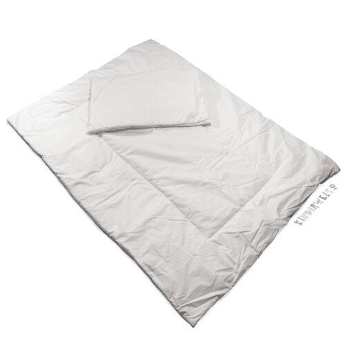 Bettzeug Baby Kissen 40 x 60 + Decke 135 x 100 Steppbett schmutzabweisend weiß