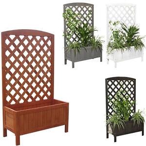 holz blumenkasten rankkasten rankgitter blumenst nder rankhilfe k bel wei braun ebay. Black Bedroom Furniture Sets. Home Design Ideas