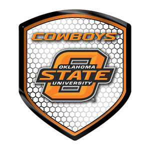 Details About Oklahoma State Cowboys Shield Reflector Football Emblem Auto Home University Of